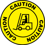 Forklift Caution
