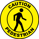Pedestrian Caution